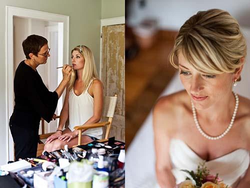 Vivian works with a bride