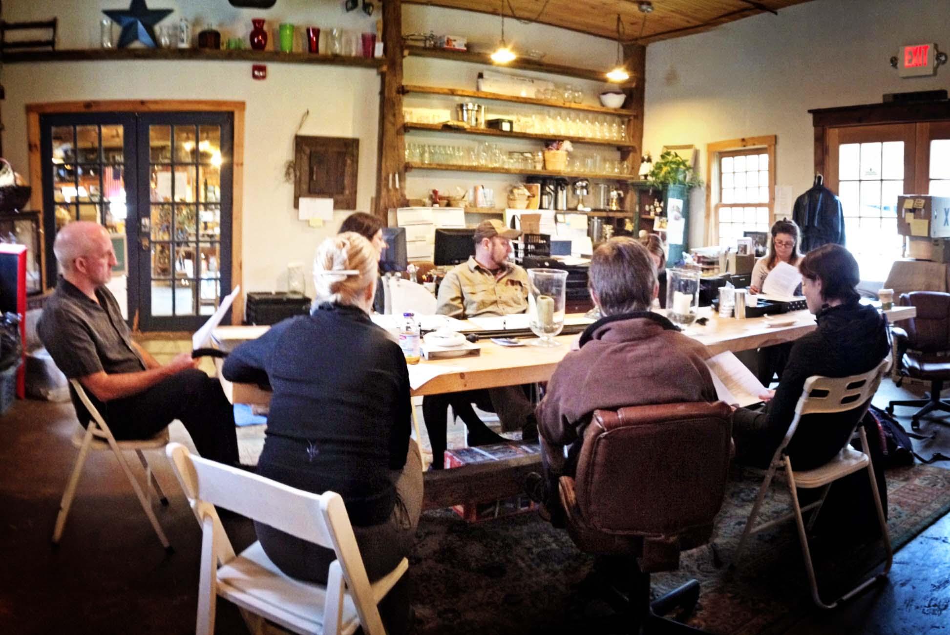 Riverside Farm Wedding Planning Meeting.