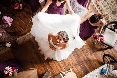 Bride in the bridal suite