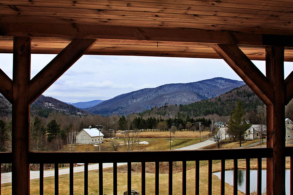 The view from the Amee Farm Lodge Porch.  Pittsfield, Vermont.