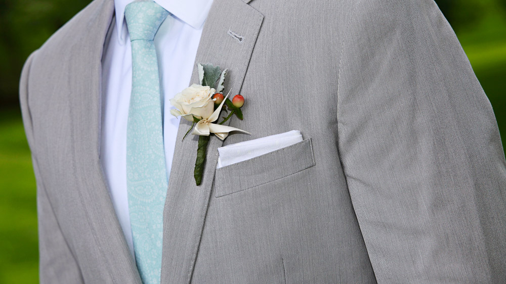 Wedding flowers from Pittsfield Garden Center for the men