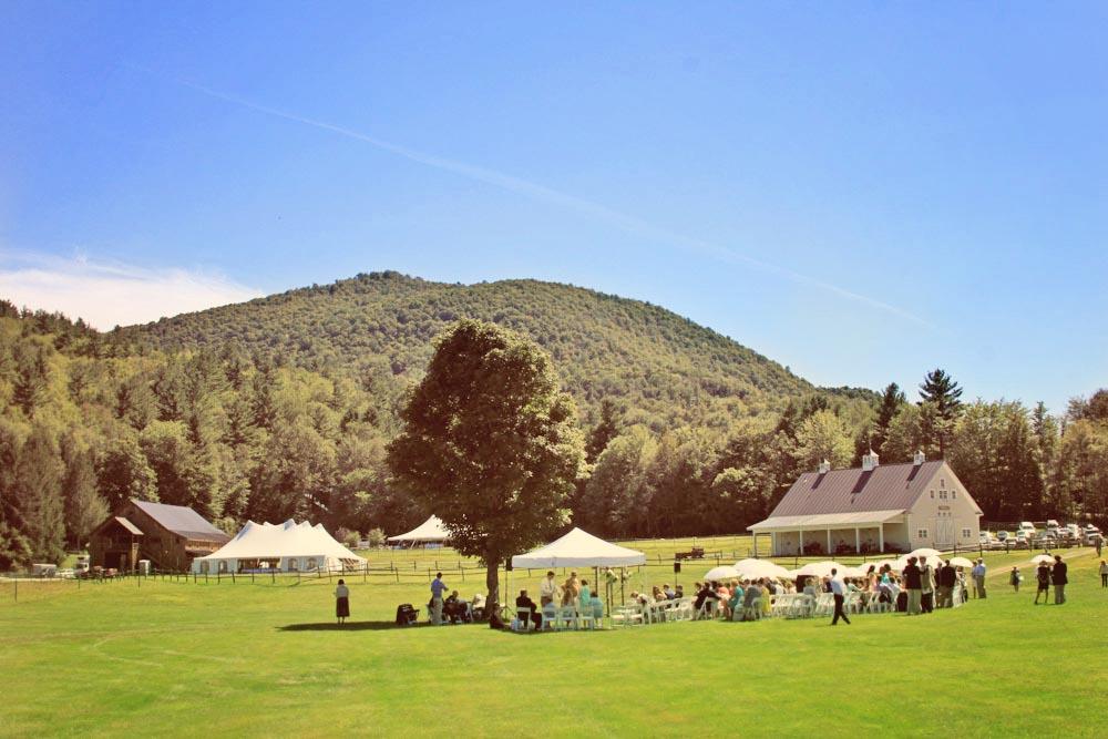 Wedding ceremony in the Farm Meadow