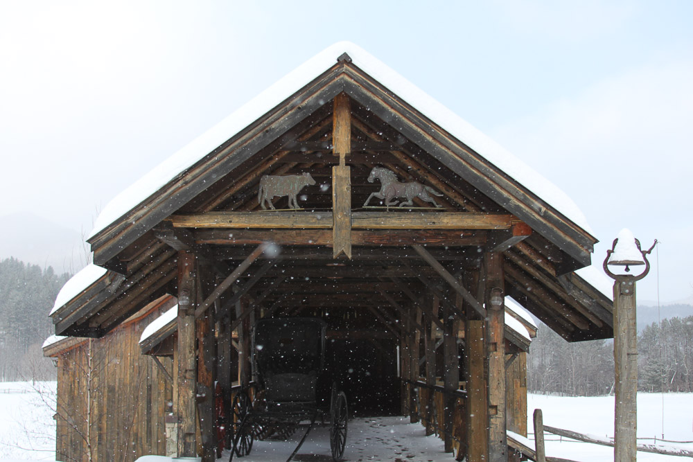A Vermont Winter Wedding Wonderland -  Riverside Farm Brown Barn