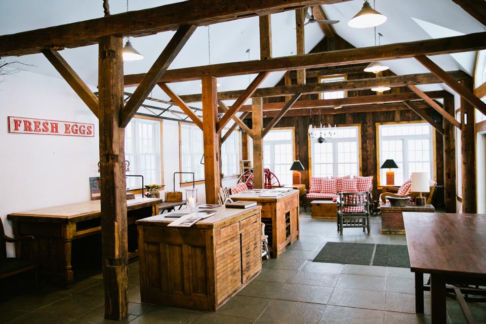 Wedding portrait locations - Inside Riverside Farm's Red Barn