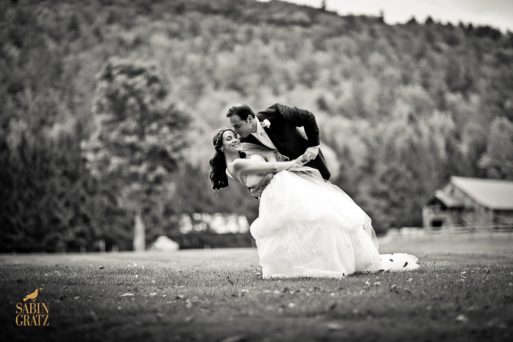Classic Vermont Mountain Wedding B+W images