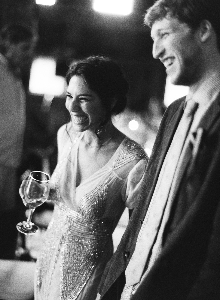 Classic Vermont Wedding Site B+W photo - Bride and Groom