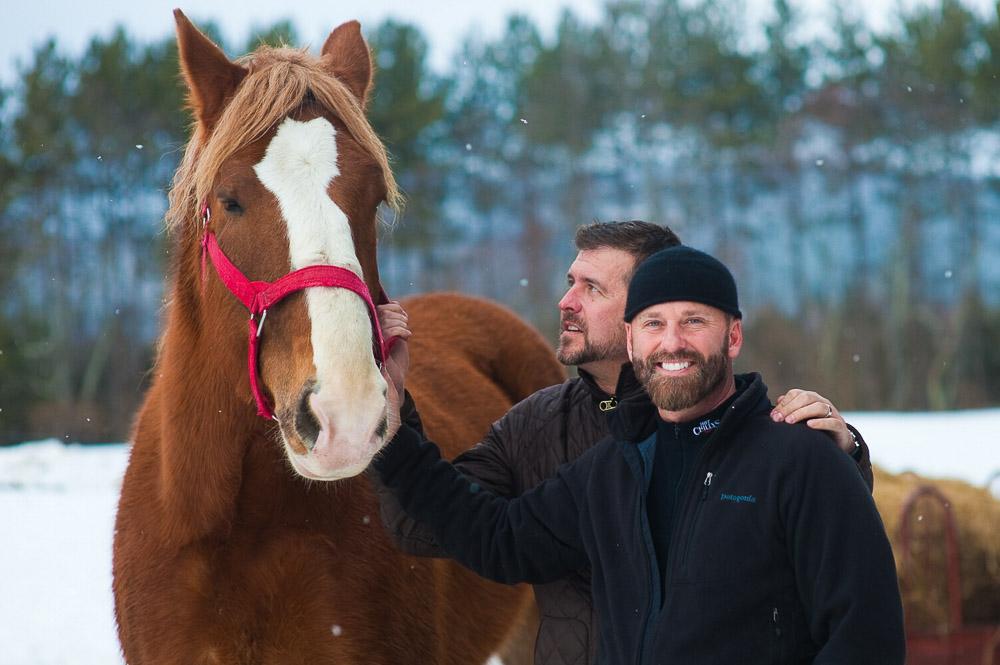 Vermont Farm Wedding Horse