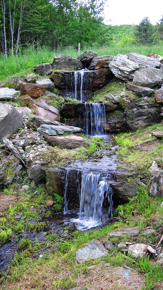 Amee Farm Vermont Wedding Venue - the waterfall site