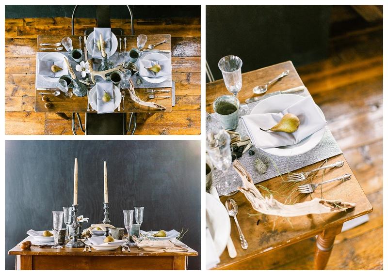 Rustic inspiration for barn wedding table