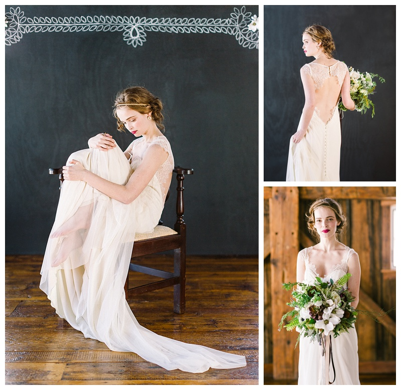 Barn wedding gothic chic inspiration