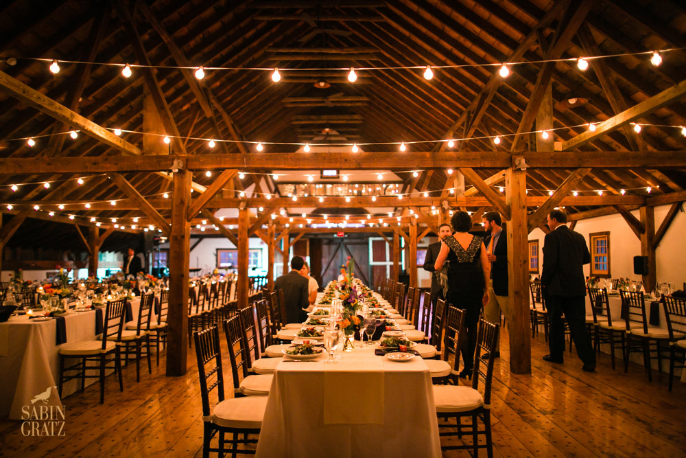Dinner at our barn wedding venue - photo Sabin Gratz