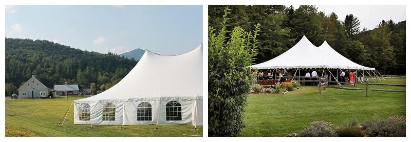 Wedding Tents at Riverside Farm Vermont