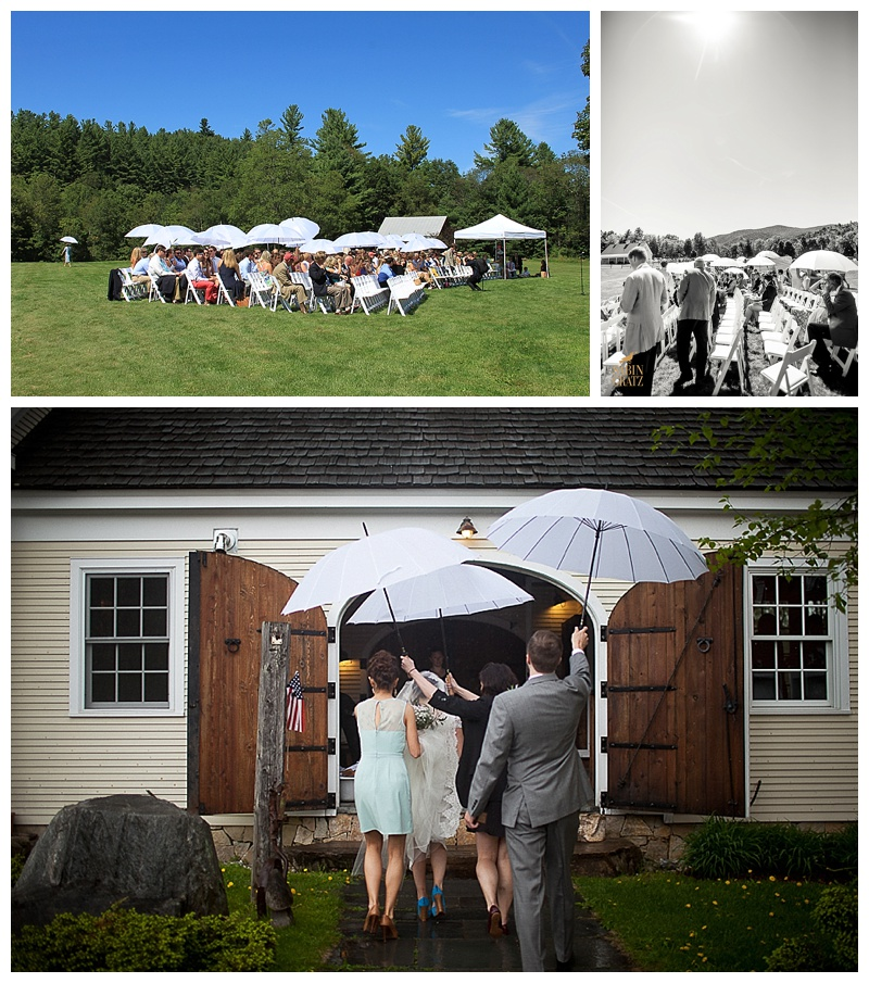 Wedding umbrellas, rain or shine.