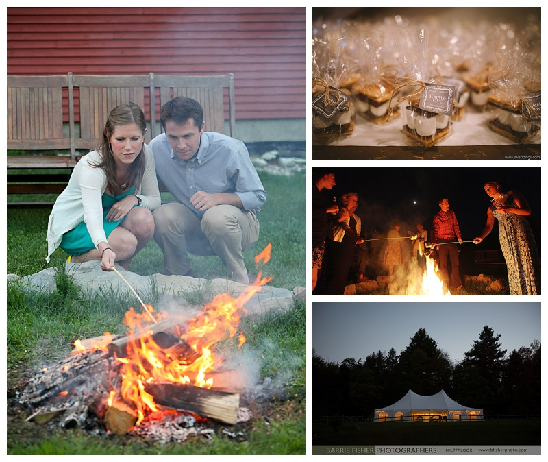 Evening by a Vermont campfire.