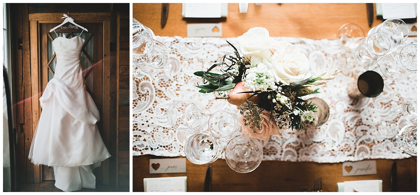 Rustic_Chic_Country_Wedding_Dress_and_Centerpiece