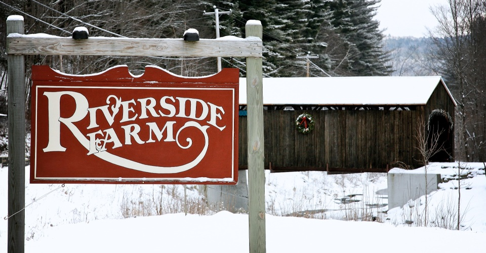 Riverside Farm in the Vermont Winter