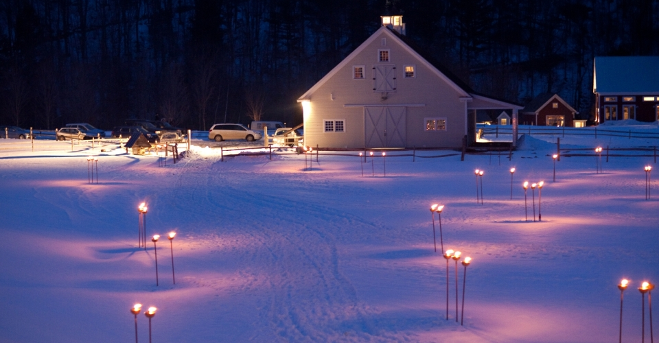 Winter at Night in Vermont