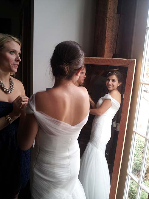 Riverside wedding behind the scenes