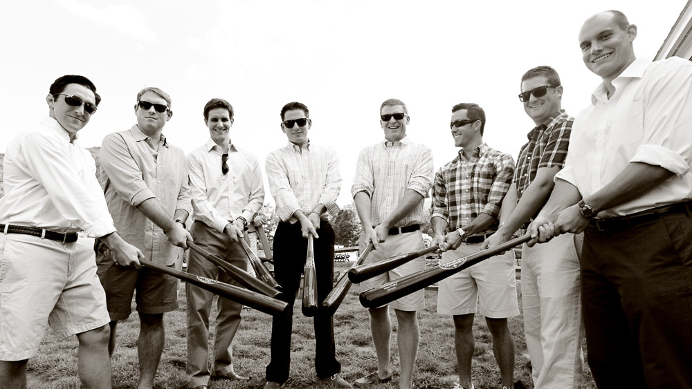 Unique gifts for the Groomsmen - engraved baseball bats.