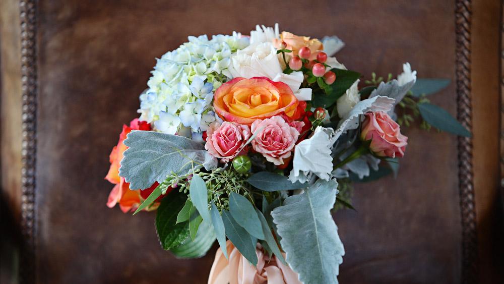 Wedding flower from Pittsfield Garden Center everywhere.