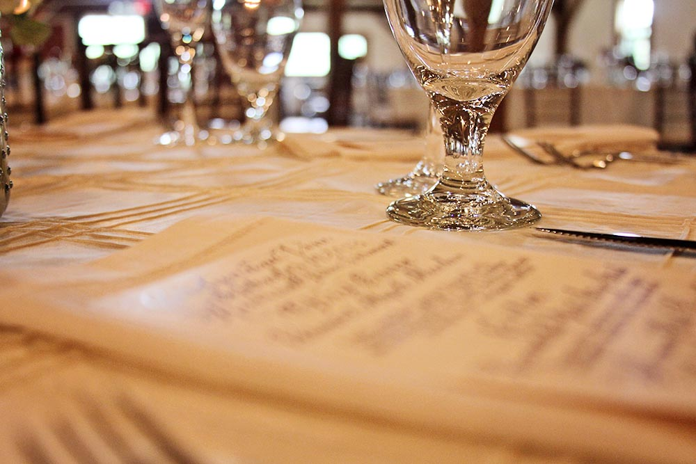 Riverside Farm Vermont Wedding Detail - menu card - catered by Occasions Catering