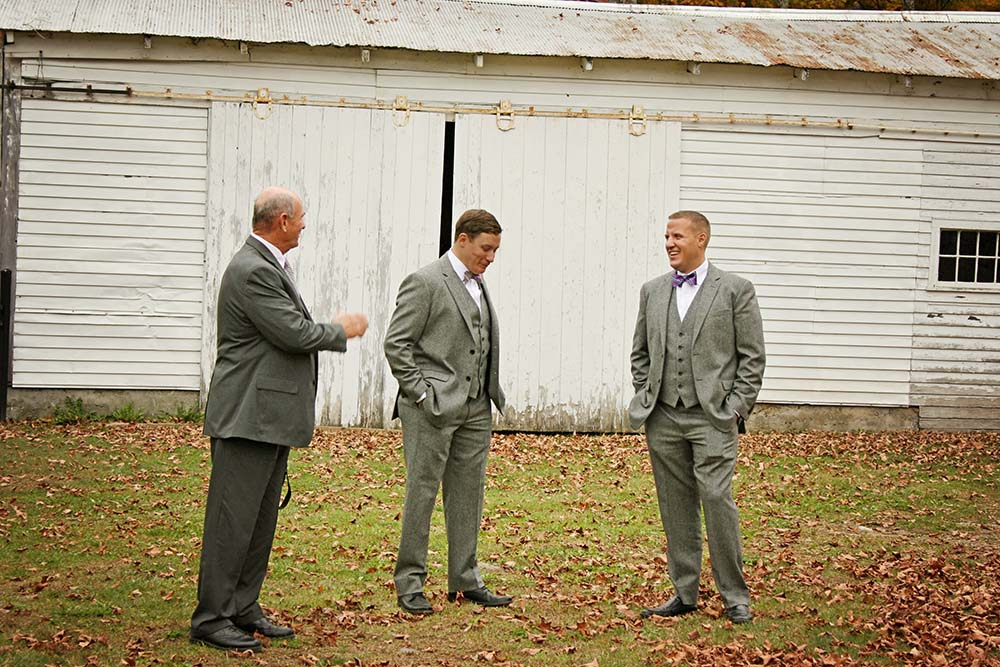 Real Amee Farm Fall Wedding - Ceremony at historic Stockbridge Meeting House