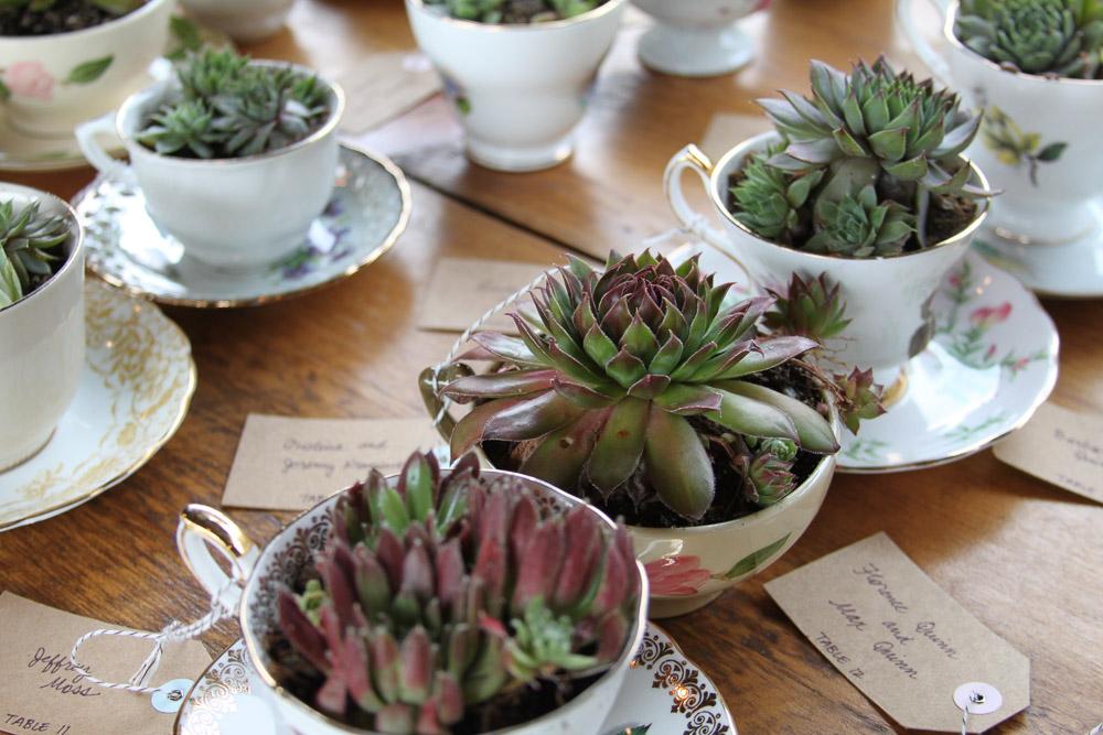 Creative Tea Cup Wedding Place Card