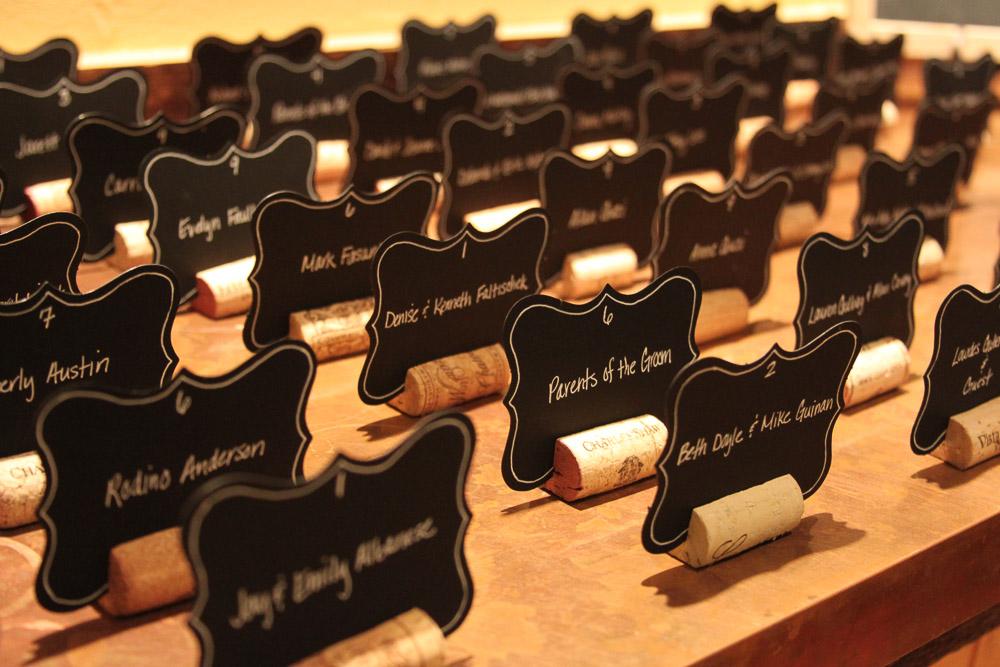 Farm wedding rustic wine cork place card dsiplay