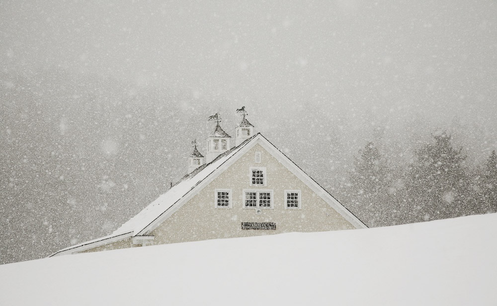 A Vermont Winter Wedding Wonderland -  Riverside Farm Stables in the Snow