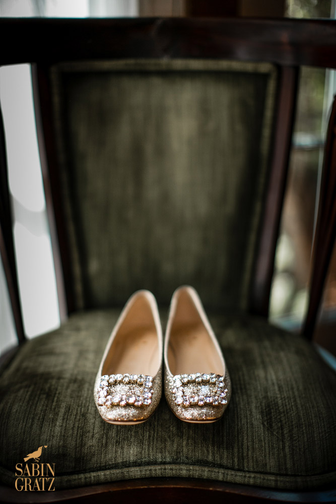 Wedding details - brides shoes