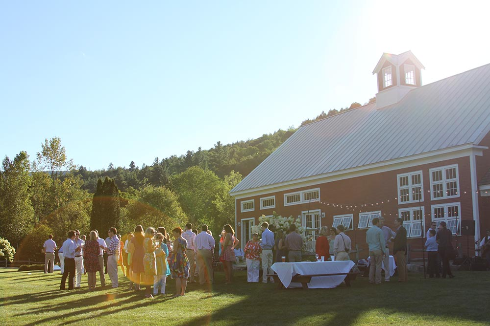 Vermont Wedding Location - The Red Barn at Riverside