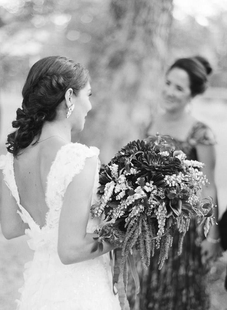 Classic Vermont Wedding Site B+W photo - Bride