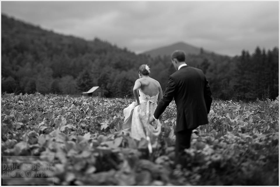 Classic Vermont Wedding Site B+W photo