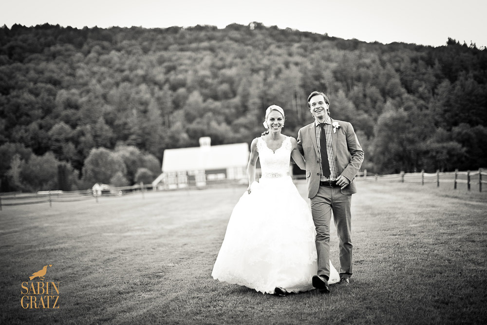 Classic Vermont Wedding Site B+W images