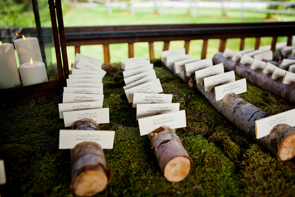 Rustic barn wedding placecards