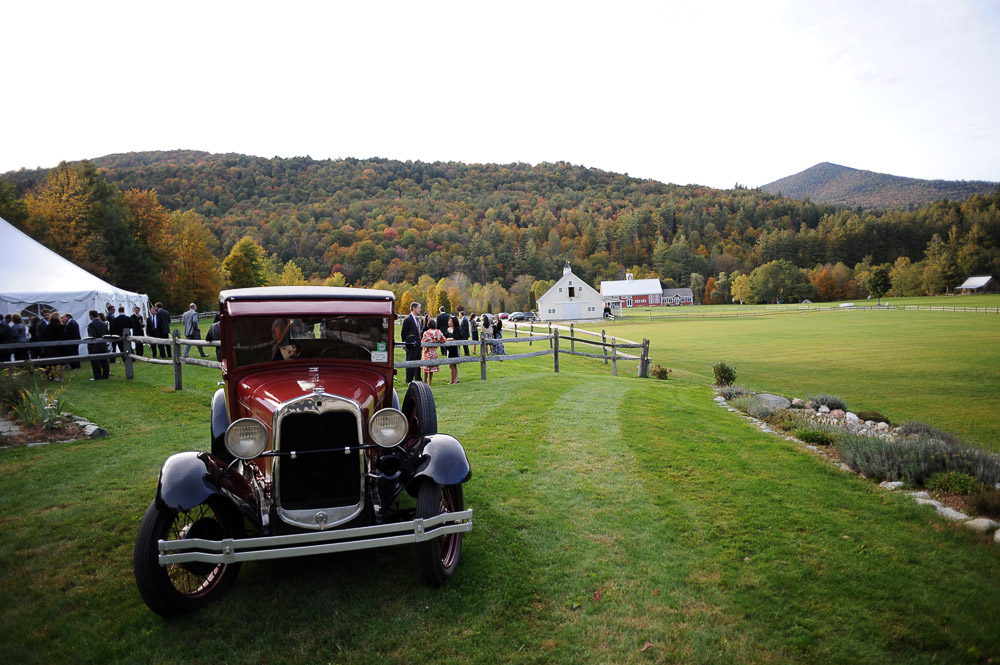 Antique Ford Truck at Vermont Wedding