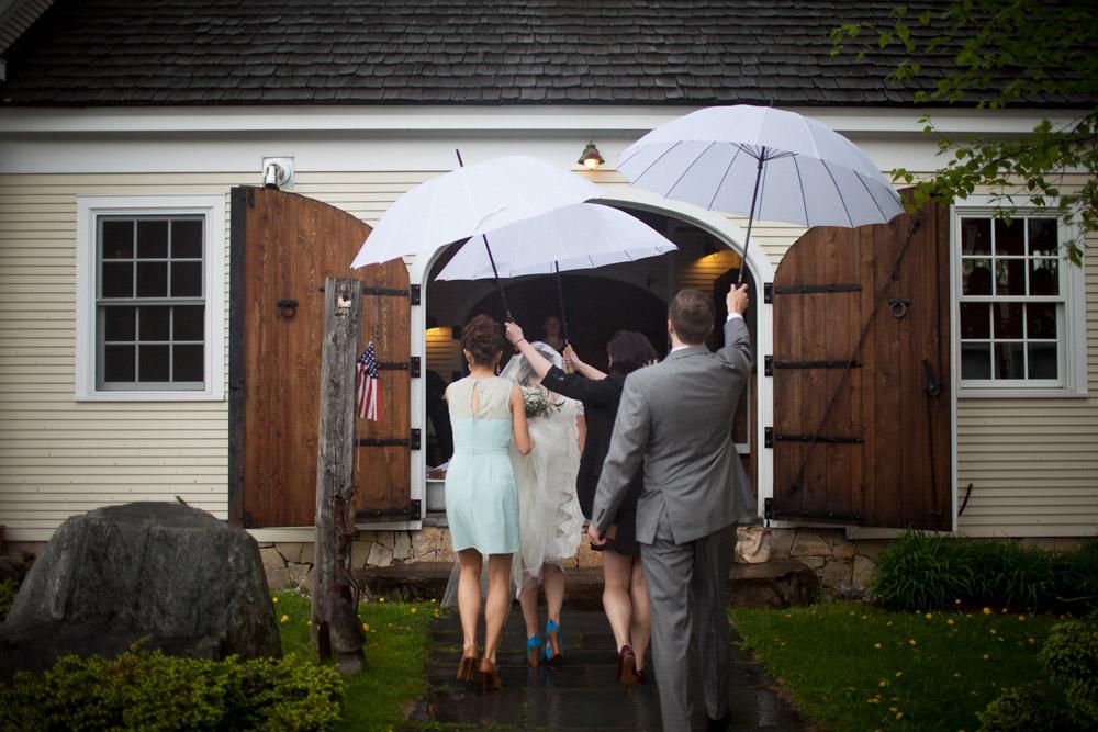 Riverside Farm Vermont Wedding Venue - joy, rain or shine