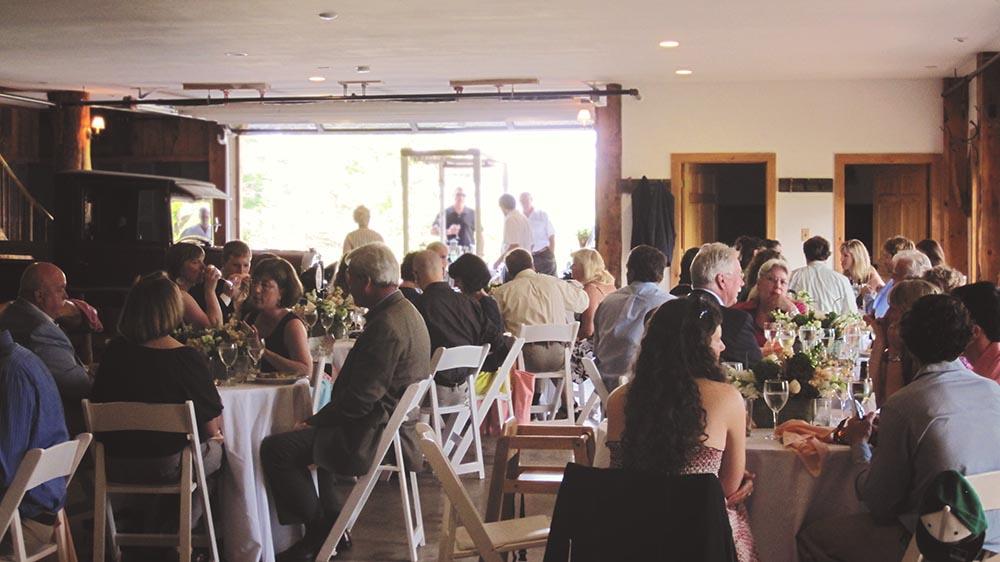 Amee Farm Vermont Wedding Venue - dinner