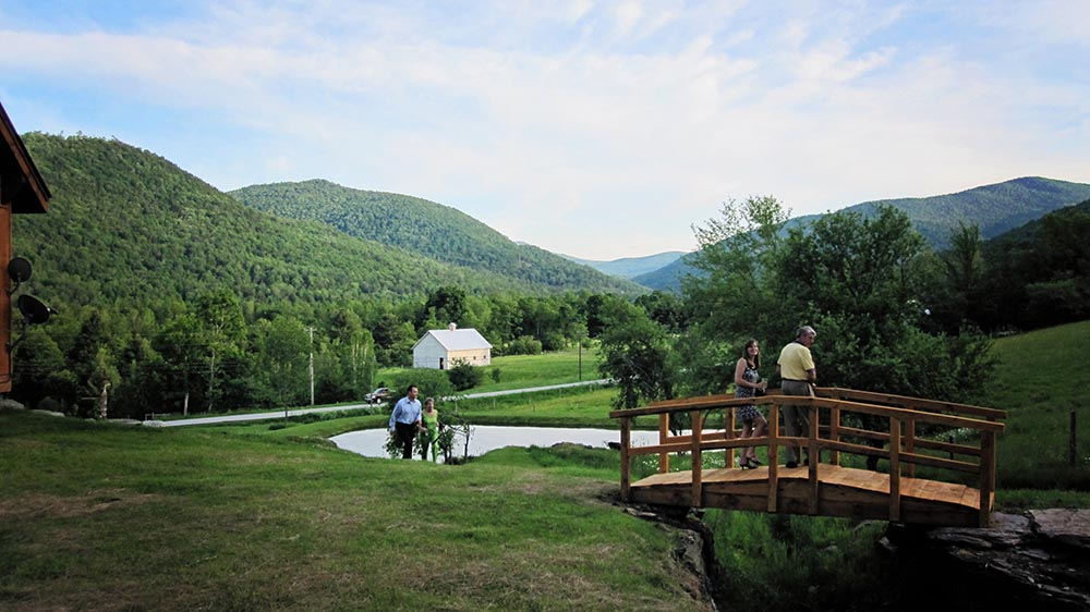 Amee Farm Vermont Wedding Venue - view down the valley