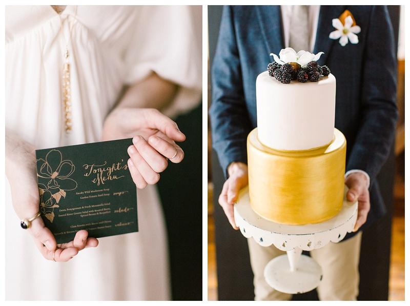 Rustic Vermont meets baroque wedding details