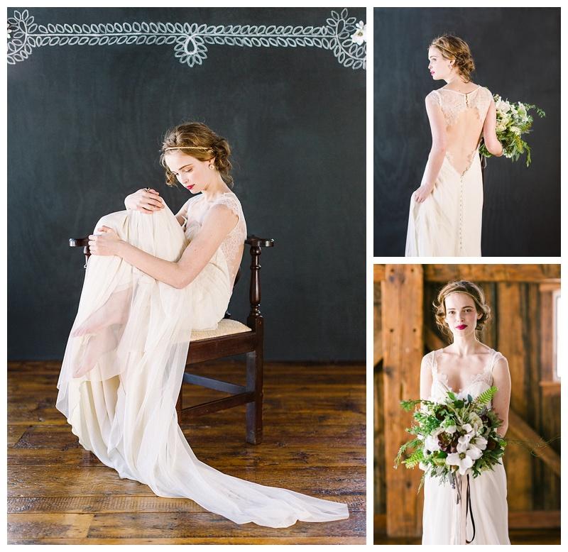 Barn wedding gothic chic inspiration