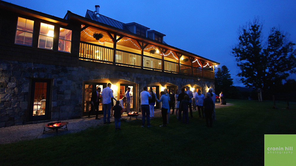 Wedding Guests Enjoy a Spring Evening - photo Cronin Hill