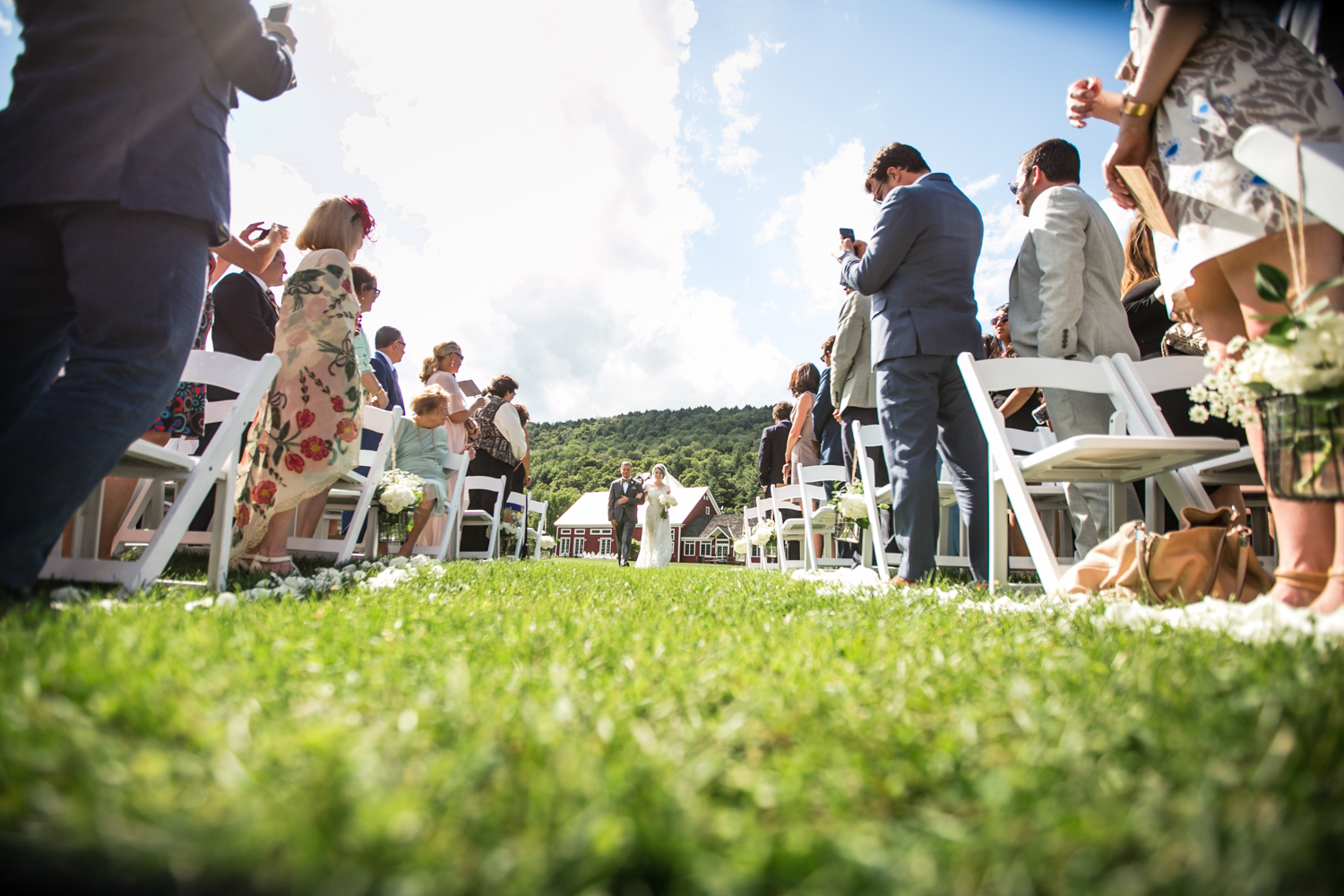 Elegant Outdoor Wedding Ceremony at Riverside Farm, Vermont