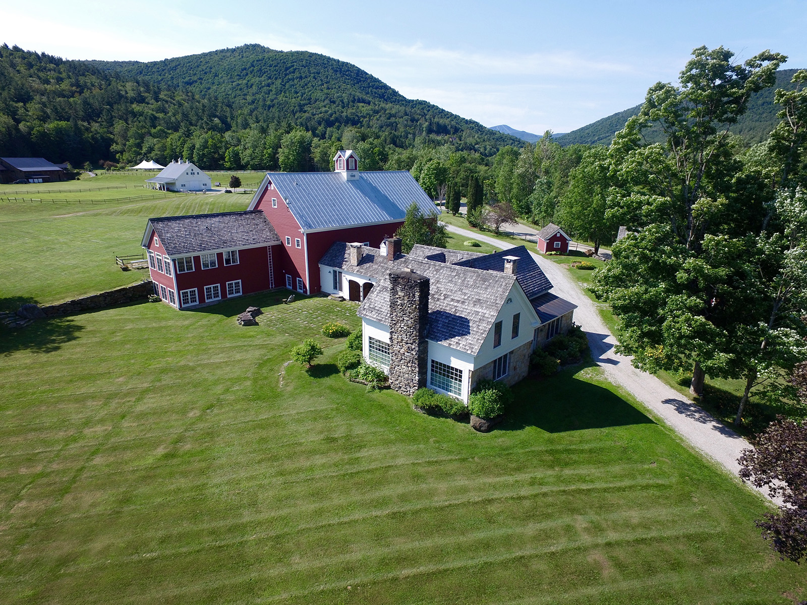 Vermont Wedding Venue from the Sky | Riverside ...