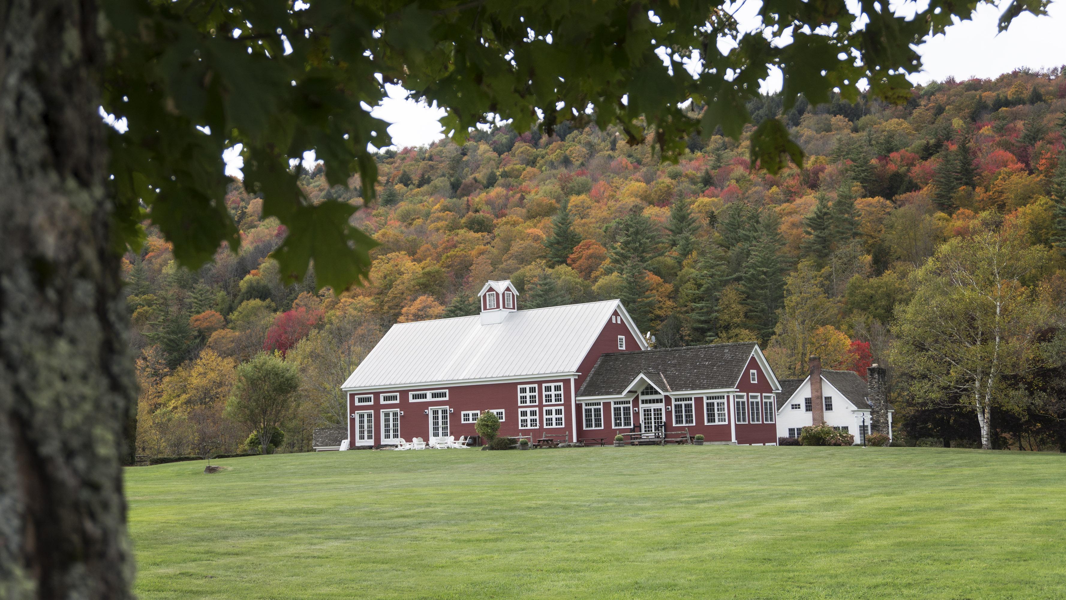 New England Wedding Barn in Fall